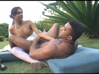 Thaina - Voluptuous shemale bride and steamy fiancé having wedding sex on the lawn