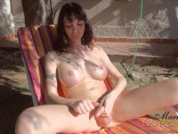 Mariana Cordoba - Hung Latin Shemale with massive cock and tits naked outdoors