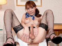 Yuu Kakisaki here is the hot flight attendant ready to service your every request! One of our fave models showing off her hot body in delicious fishnets and that delicious ass which is ready for some loving. Enjoy!