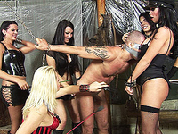 4 shemales dominate their slave