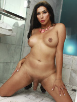 Naughty Vaniity posing in bathroom
