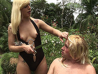 Thais dresses up her sissyboy before fucking him