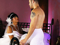 Naughty bride Vaniity getting blowed and banged